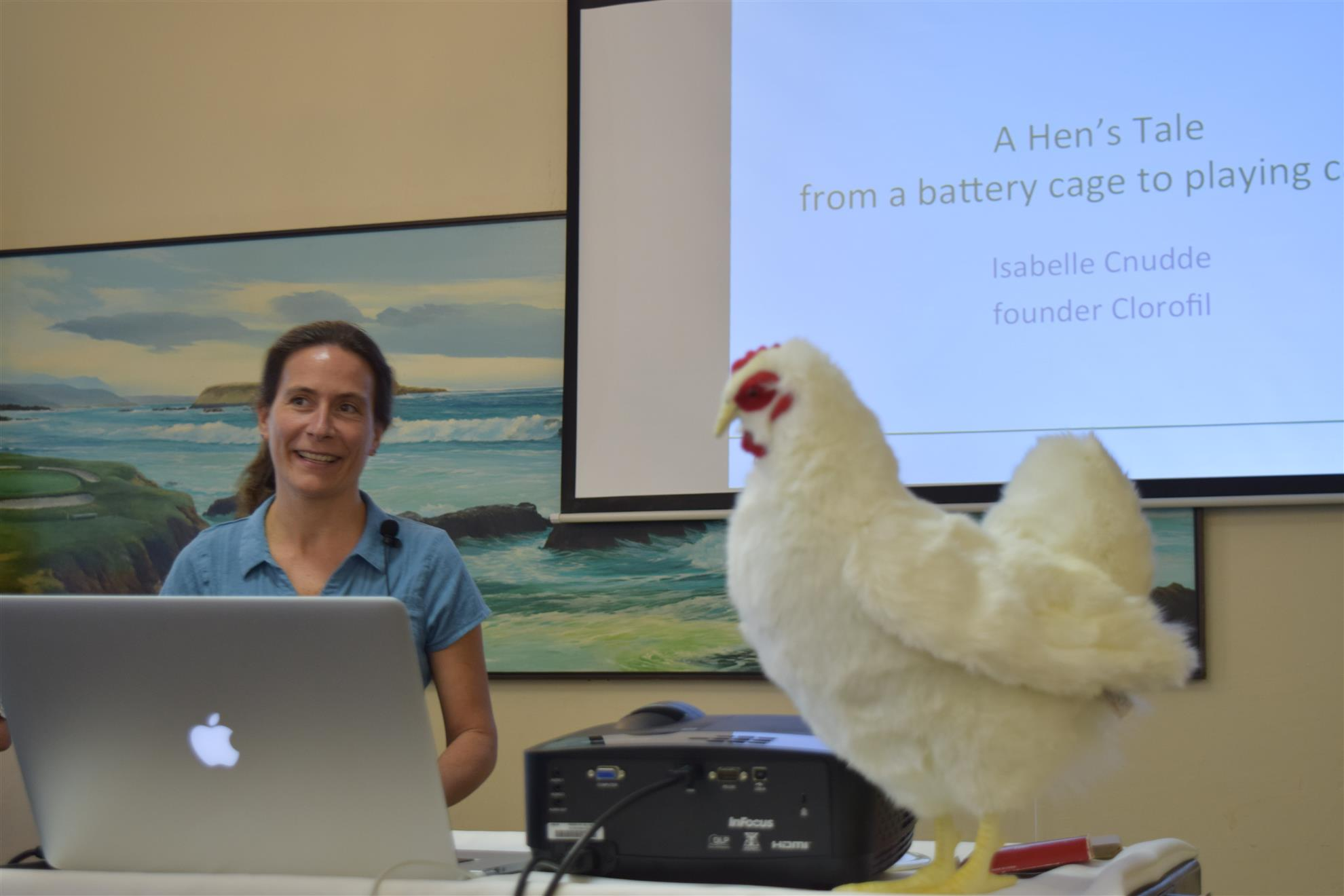 Isabelle Cnudde went from tech to hen rescues in Silicon Valley