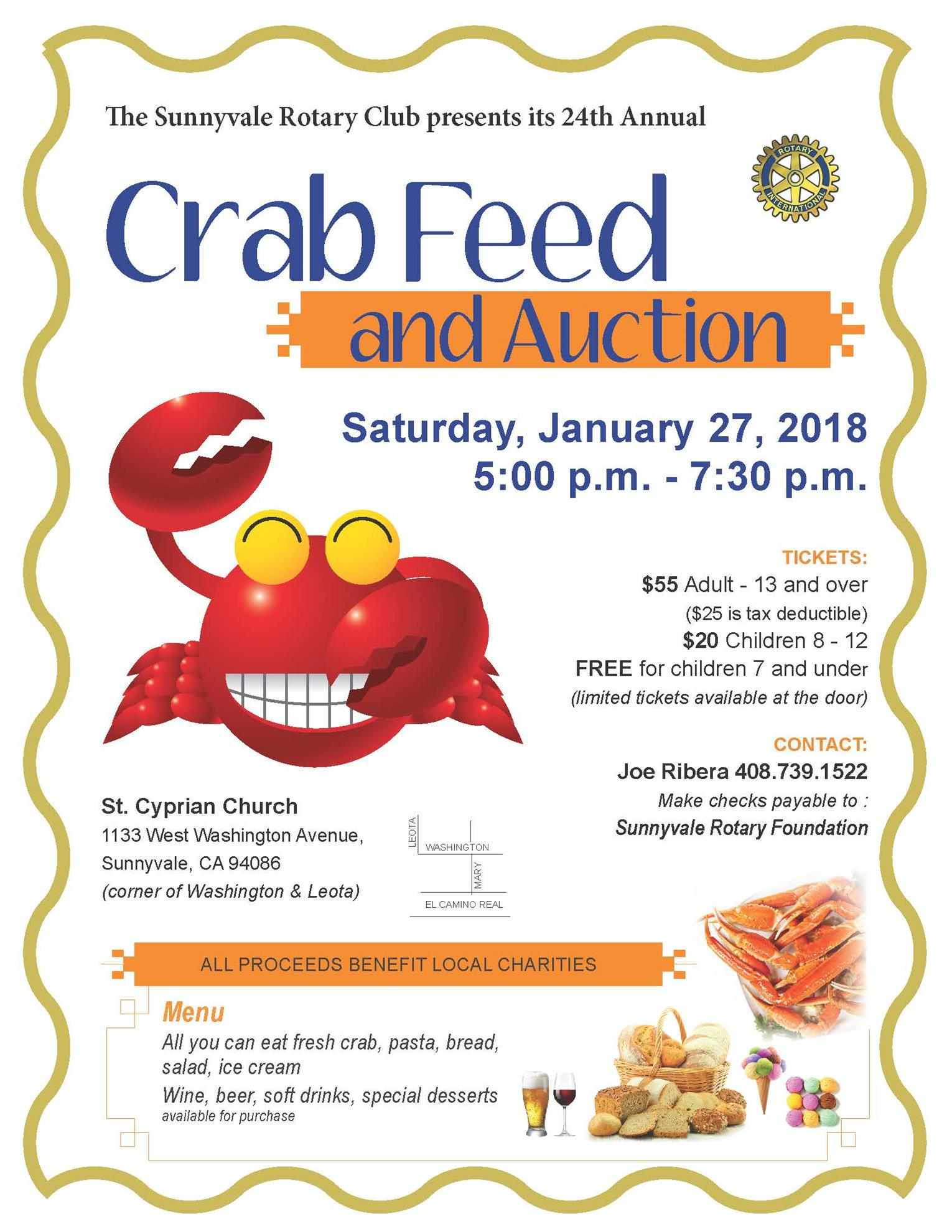 Join us for our annual crab feed on January 27