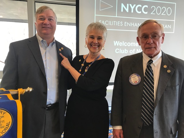 Jim Kitz (l) and Will King (r) have generously supported The Rotary  Foundation. President Pam presented Jim with a Paul Harris Fellow + 2 pin  and Will King ... 9eed2e2a2
