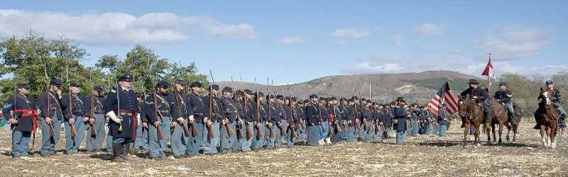 blue and gray civil war reenactment rotary club of moorpark