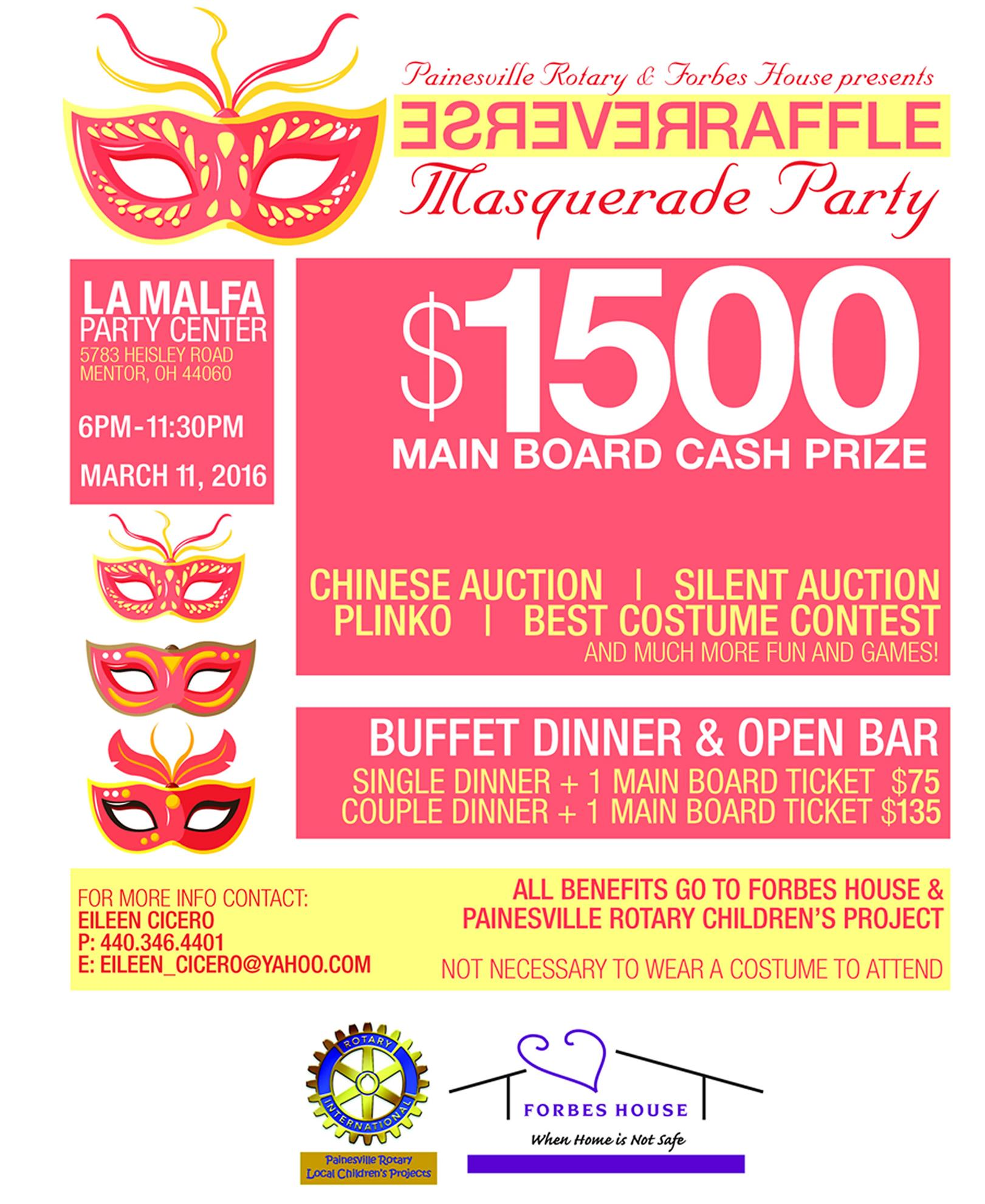 painesville rotary reverse raffle masquerade party 3 11 2016