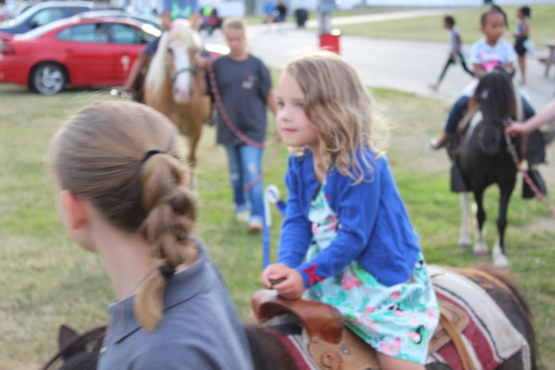 Pony rides at the Fireworks Fest