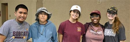 Texas State University students help Rotary