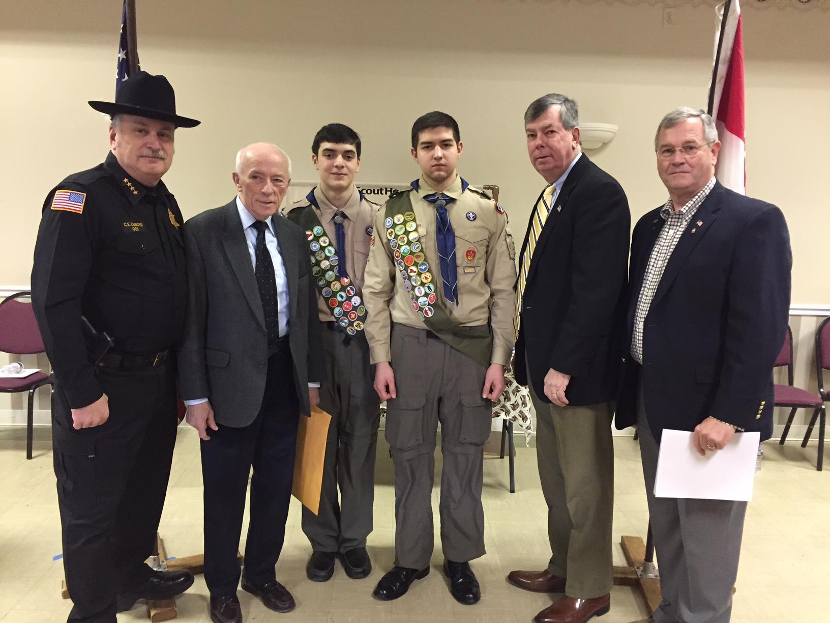 New Eagle Scouts Ryan Cooney & Andrew Herrera