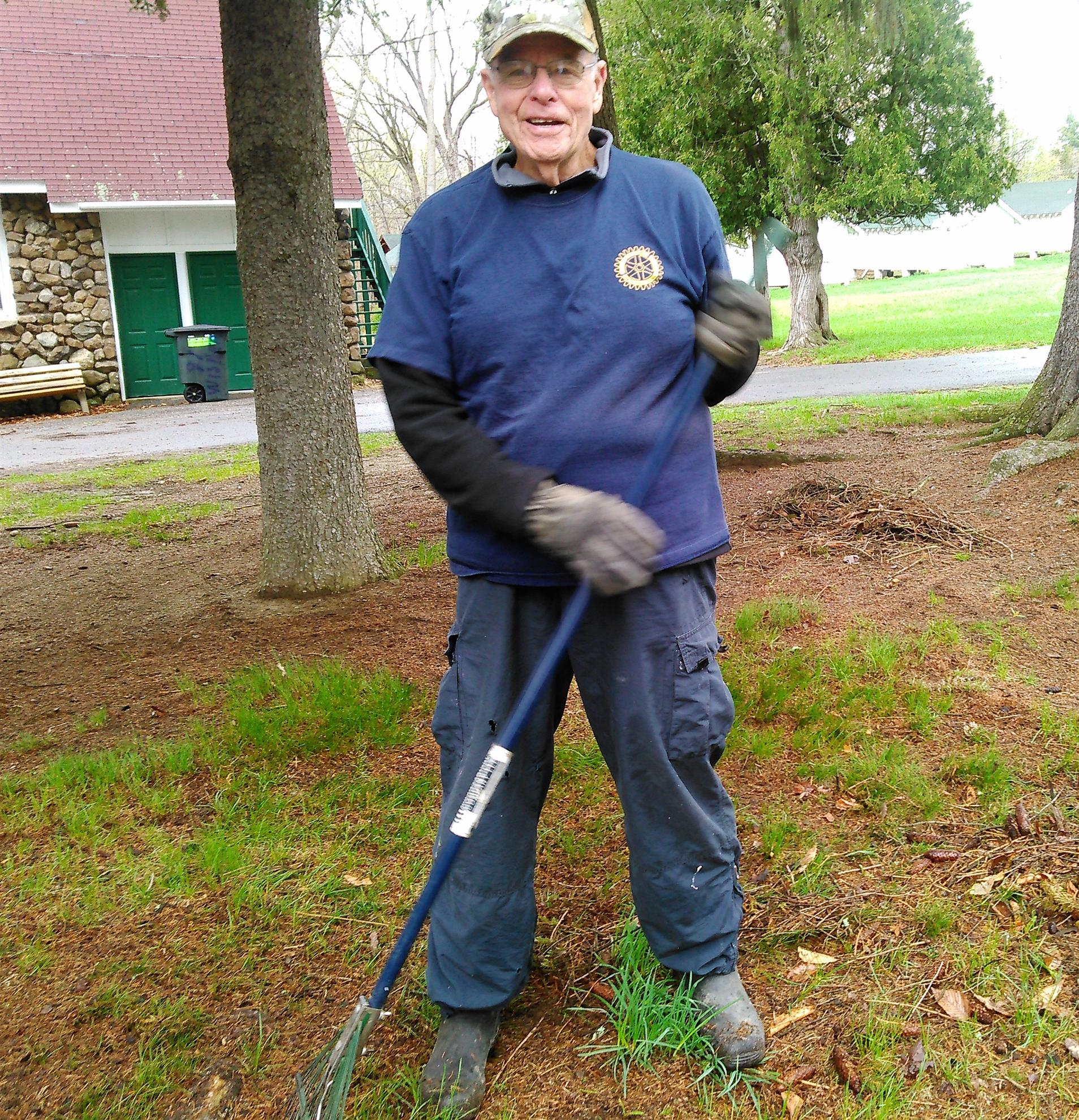 Harry Grout- Braeside Cleanup. What's a little rain!