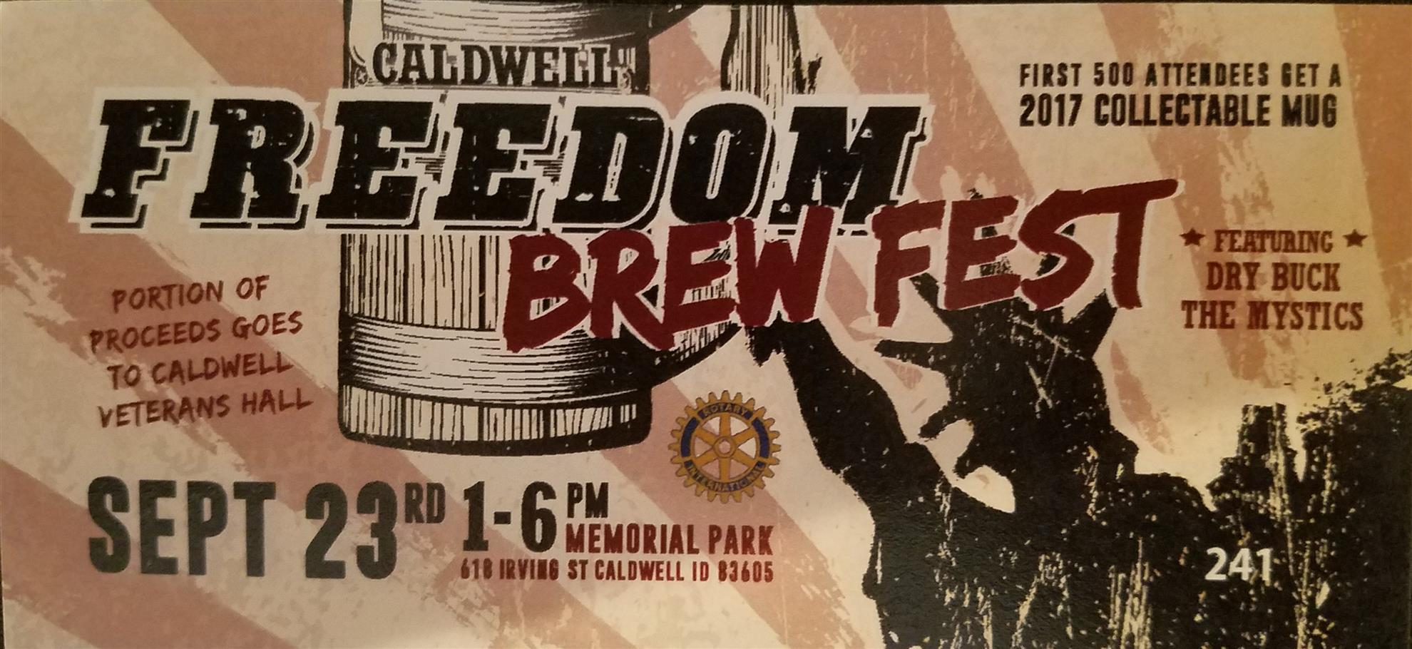 Our Caldwell Freedom Brew Fest Is This Coming Saturday September 23rd From 1 6pm At Memorial Park We Need Your Help In The Following Areas