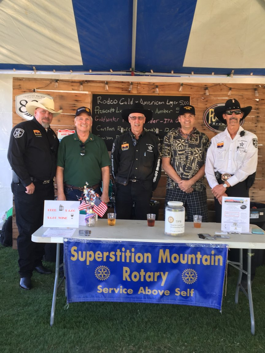 Stories Rotary Club Of Superstition Mountain Rodeo Bundling 1 Navy M Thanks Too To The Handlebar Pub And Grill That Donated Beer Wine Aj Chamber Members Who Organized Entire Event