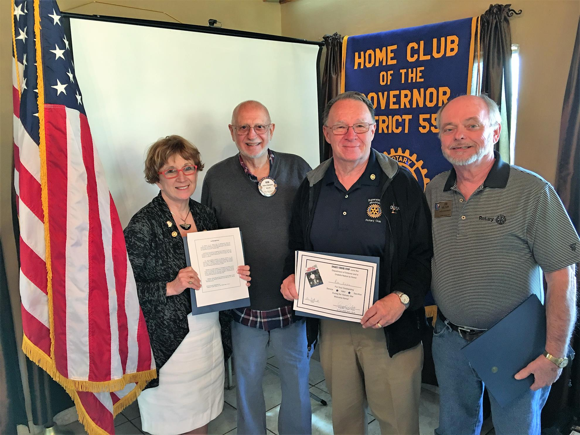 Stories rotary club of superstition mountain come forward to receive a certificate from her thanking them for their service in the picture below from left to right are angel bob benjamin 1betcityfo Gallery