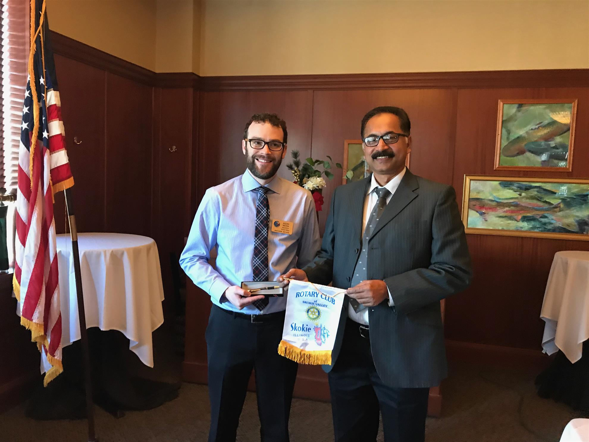 411810388ebc Club President Jason Wicha and Rotarian Shibu Peter from India