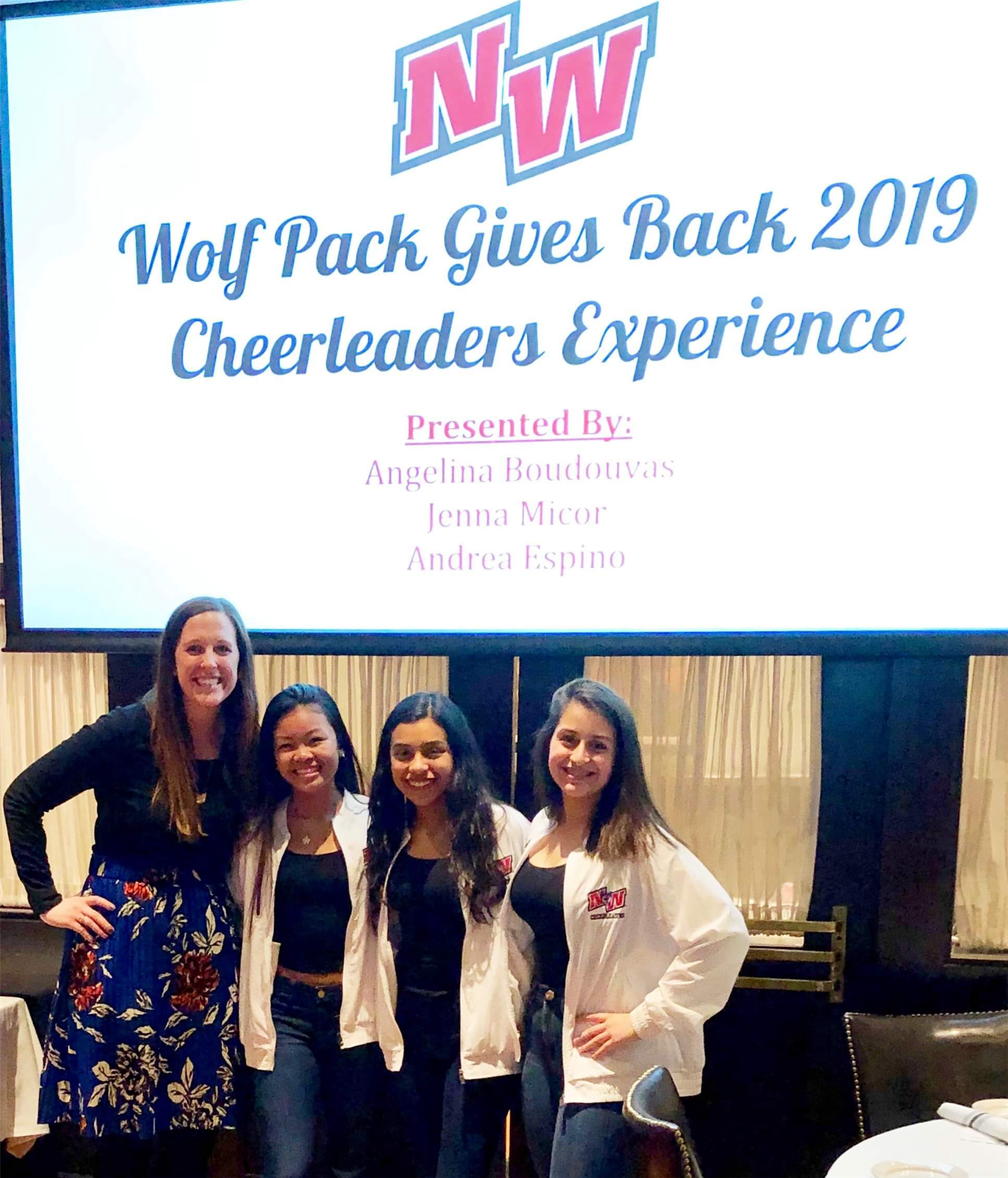 2776574c0f6 Above Guest Speakers left to right: Dr. Dana Krilich, Niles West Athletic  Director, Jenna Micor, Niles West Cheerleader, Andrea Espino, ...