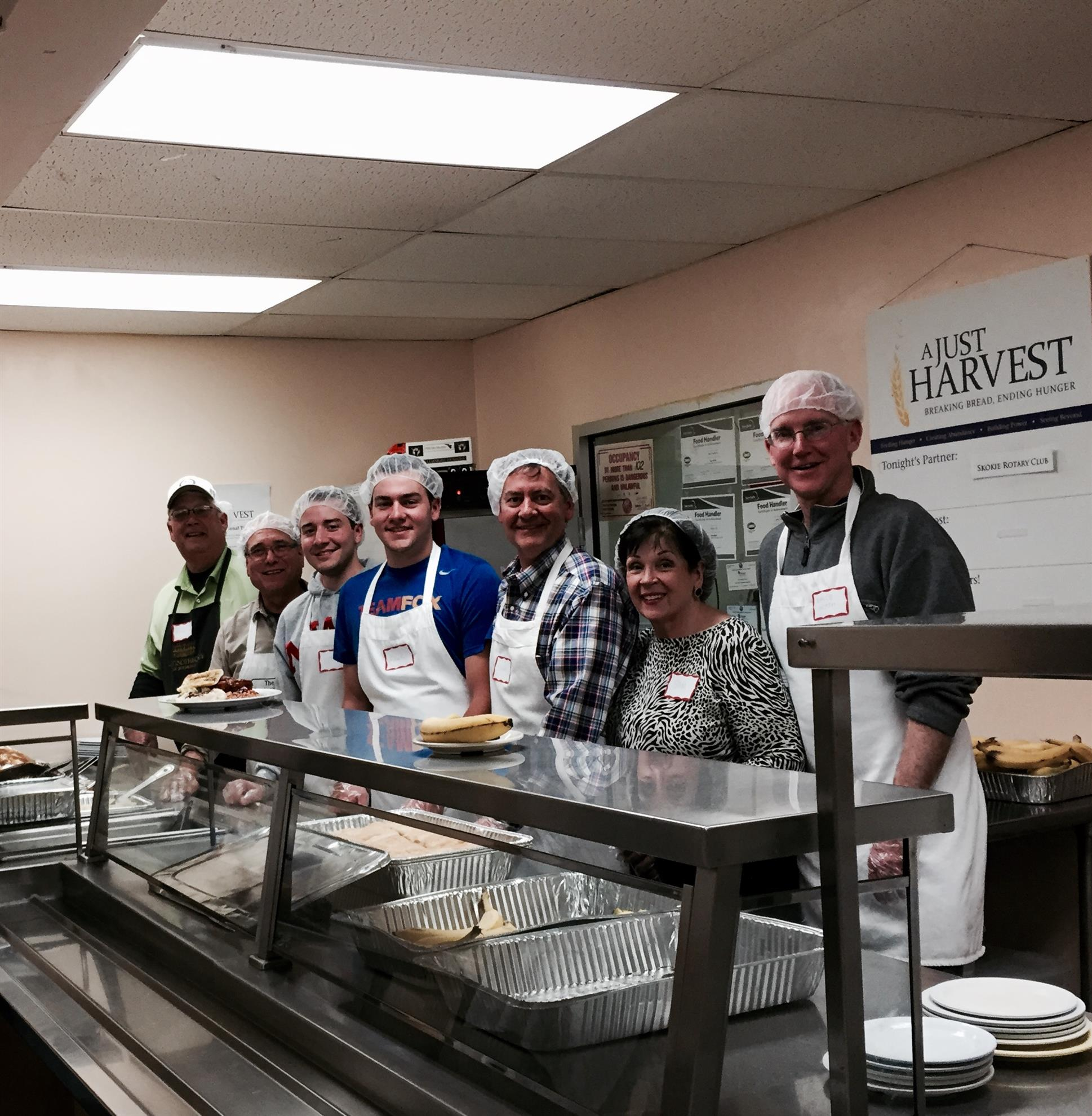 The Above Team Of Volunteers Helped Serve 109 Patrons This Past Sunday At A  Just Harvest Soup Kitchen Located At 7649 North Paulina Street Chicago.