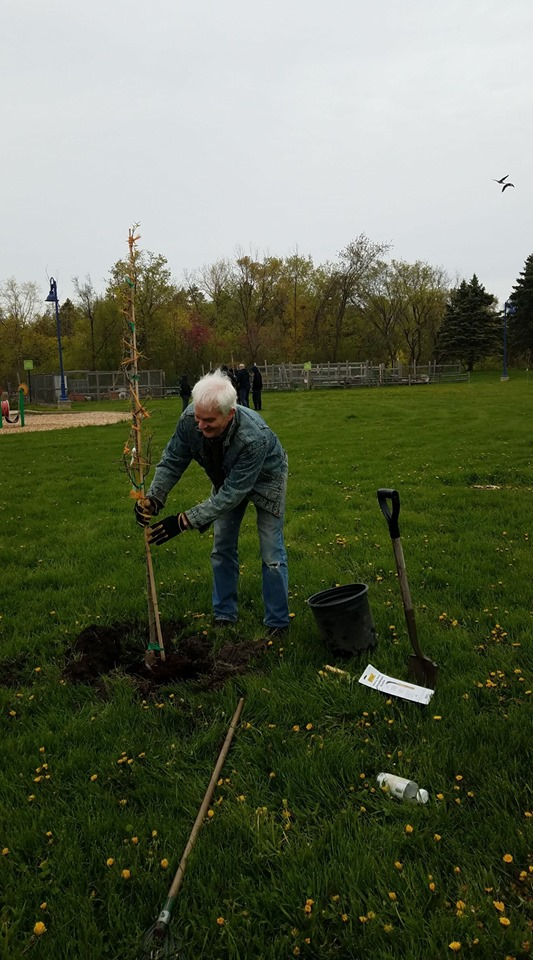 Bill plants a tree