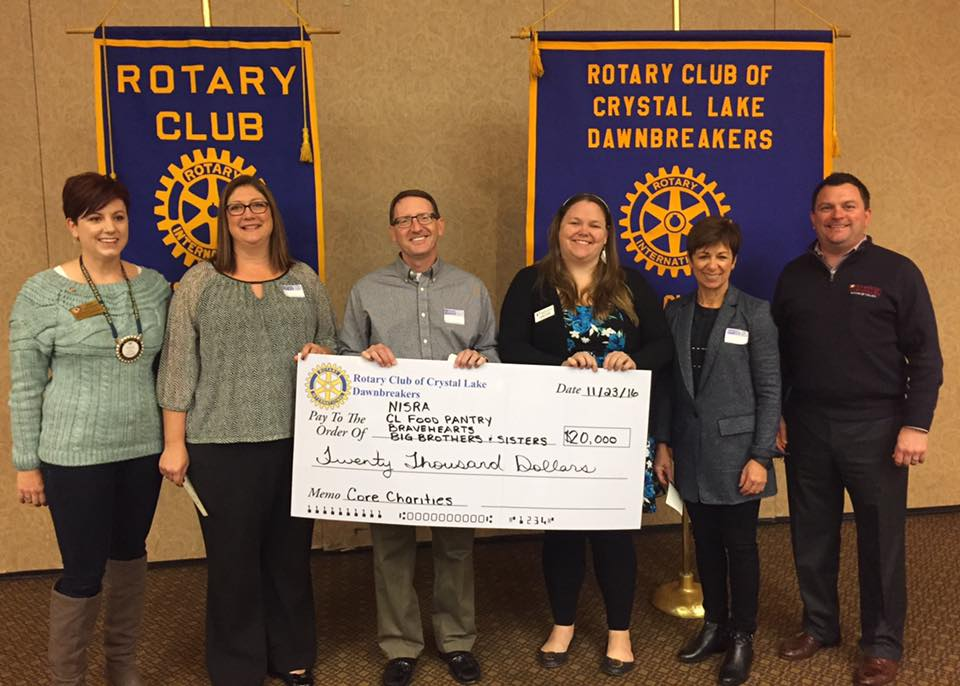 Dawnbreakers Distribute To Core Charities Rotary Club Of Crystal