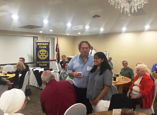 1b555fdf9 OPR President Sam Behrend and FWHS Student of the Month, Samantha accepting  a small token of appreciation from the club.