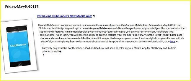 Rotary new app