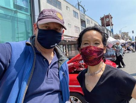 Bob Hermann and Vanita Louie of the Rotary Club of San Francisco Chinatown