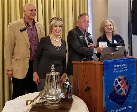 Bob Hermann, Maureen O'Shea, Dan Joraanstad, and Diane Stark