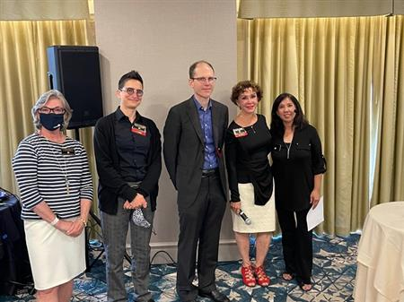 Marti Sullivan, Esther Landau, Nat Crawford, Caryn Crump, and President Mary Liu