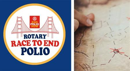 Rotary Race to End Polio and Map