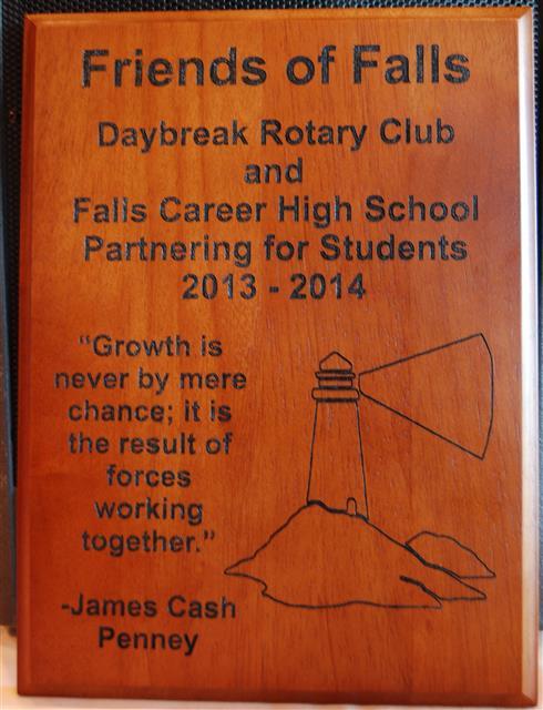 Falls plaque