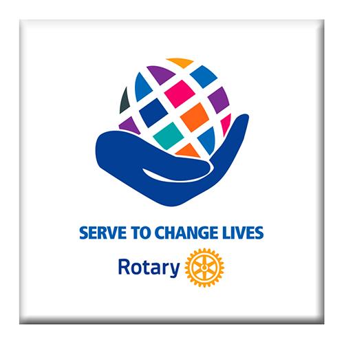 2020-21 Rotary Theme Coaster, 4-1/4