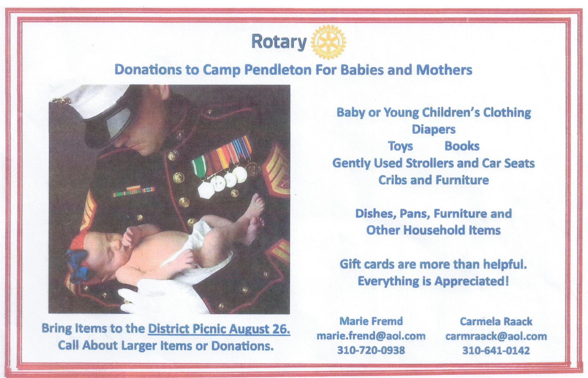 Stories rotary club of redondo beach district picnic camp pendleton donations fandeluxe Choice Image