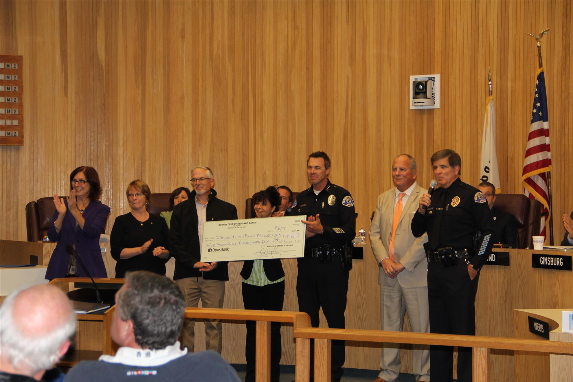 Proceeds from Fund Raising Event Presented to RB Police