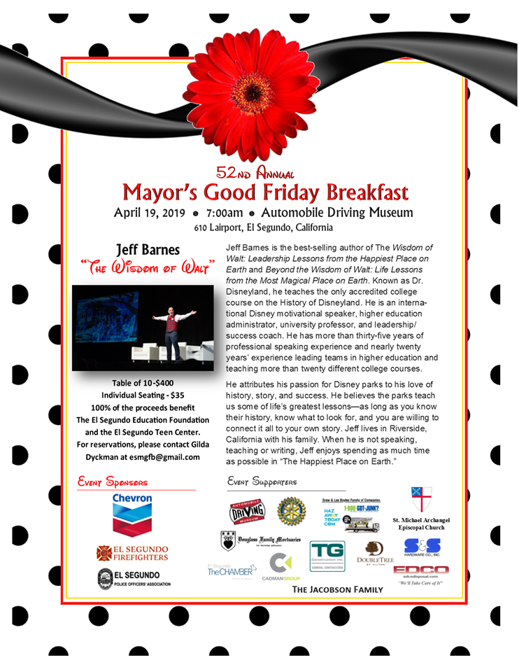 f42414495 The 2019 Mayor's Good Friday Breakfast is coming soon! Hope to see you  there!
