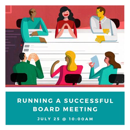 RUNNING A SUCCESSFUL BOARD MEETING WORKSHOP