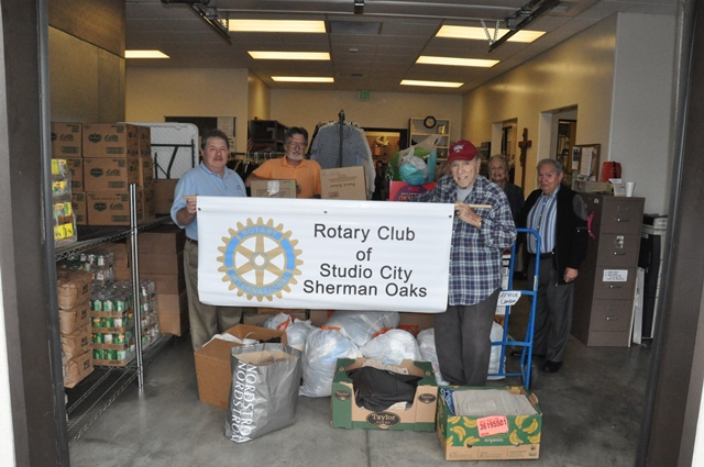 Studio City  Sherman Oaks Rotarians Cleaned Out Their Closets During The  Month Of January And Collected 475 Pounds Of Clothing To Be Donated To St.  Charles ...