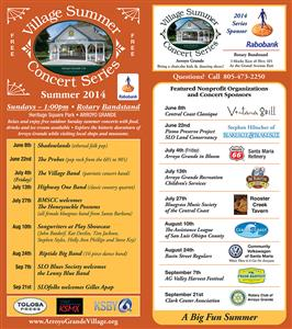 Village Summer Concert Series at the Rotary Bandstand in