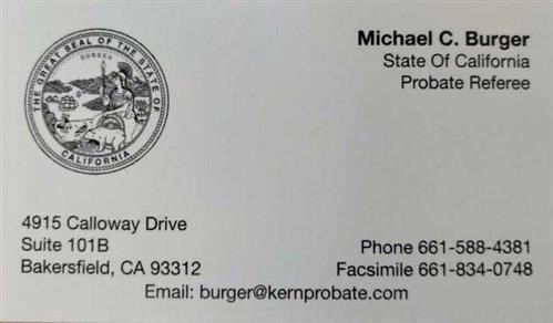Michael Burger Probate Referee
