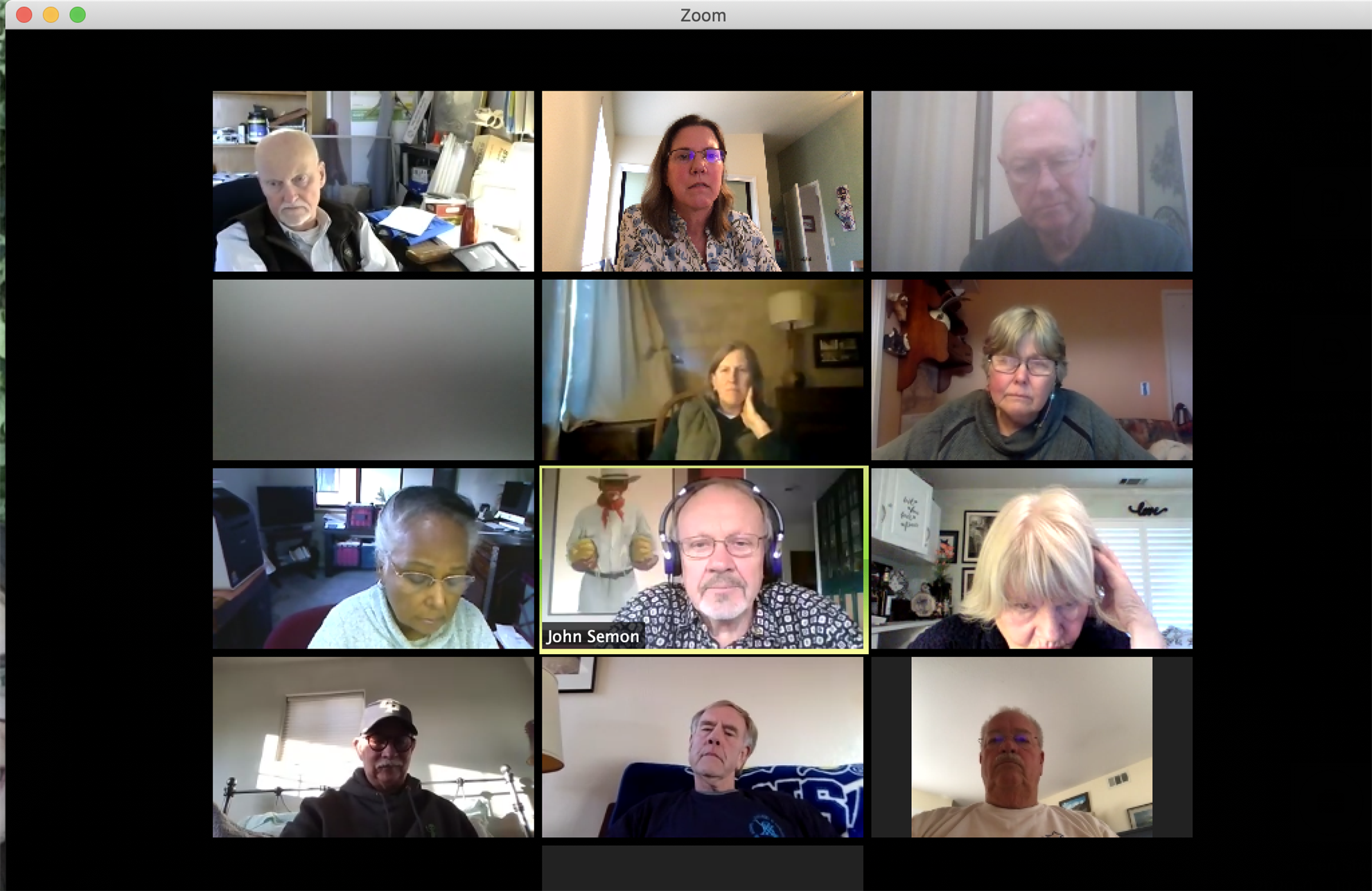 Zoom meeting due to Covid-19