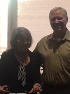 Agnes Jensen receives Paul Harris at Demotion dinner