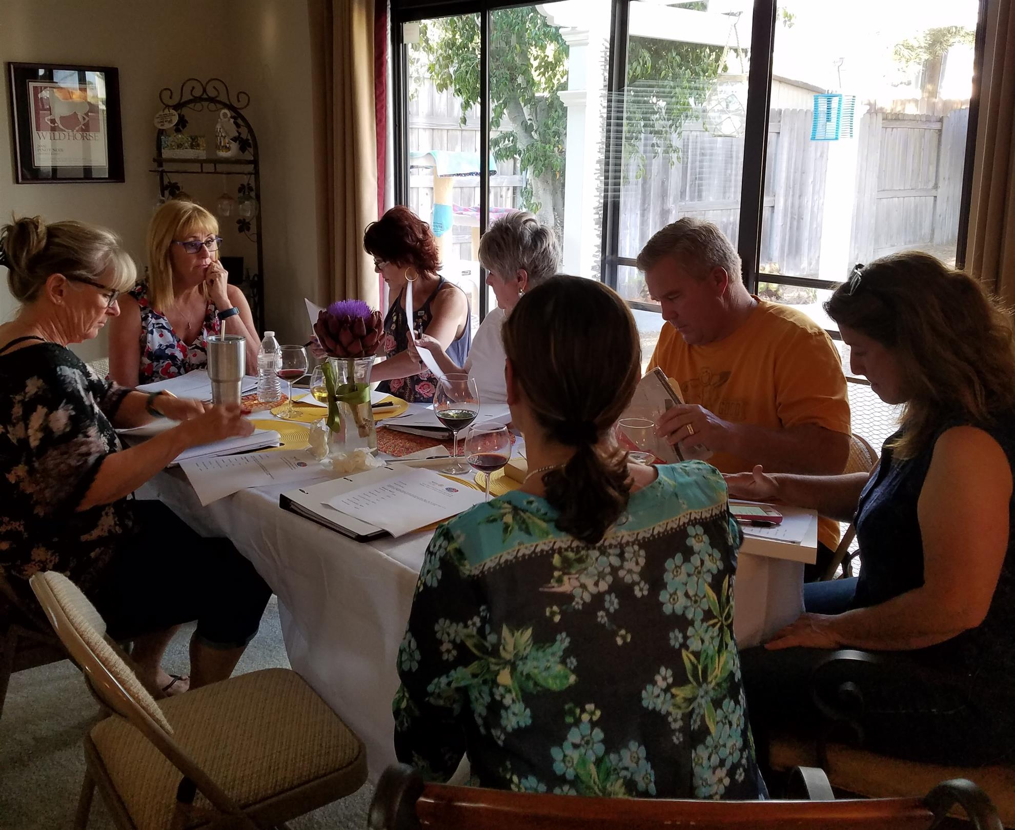August Board Meeting at Lettie's