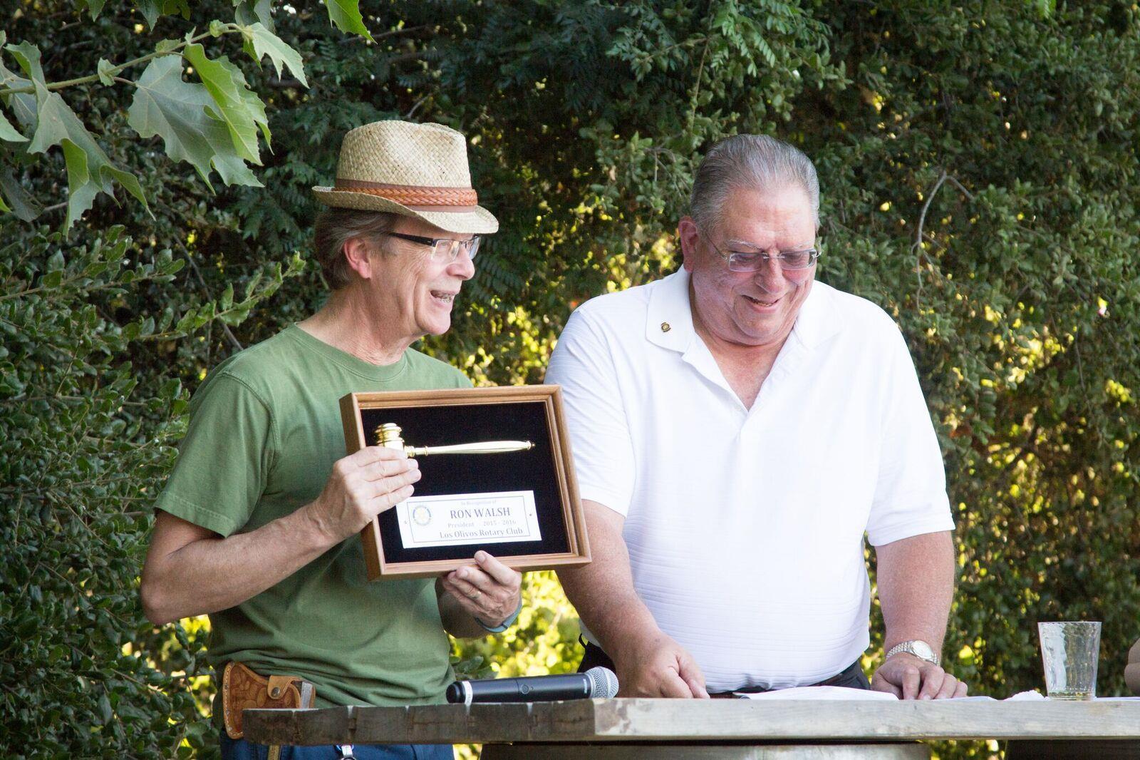 PHOTO - Steve makes presentation to Ron