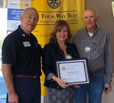 Ken Casida then presented Paul Harris Fellowships; one to Lorraine in honor  of her deceased brother, and the second one went to Jan Lewis for her sister  who ...