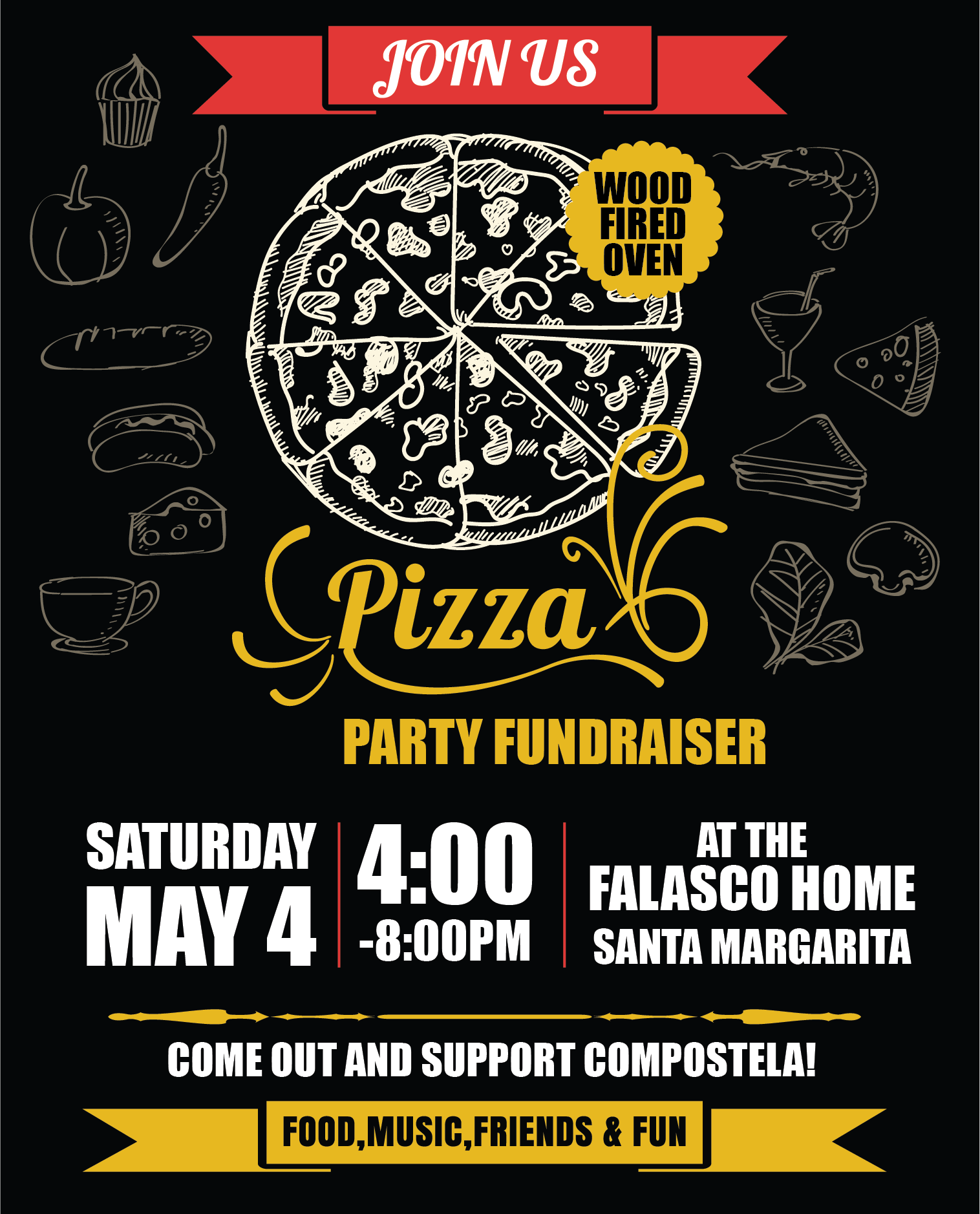 Pizza Party Fundraiser, May 4th, 2019