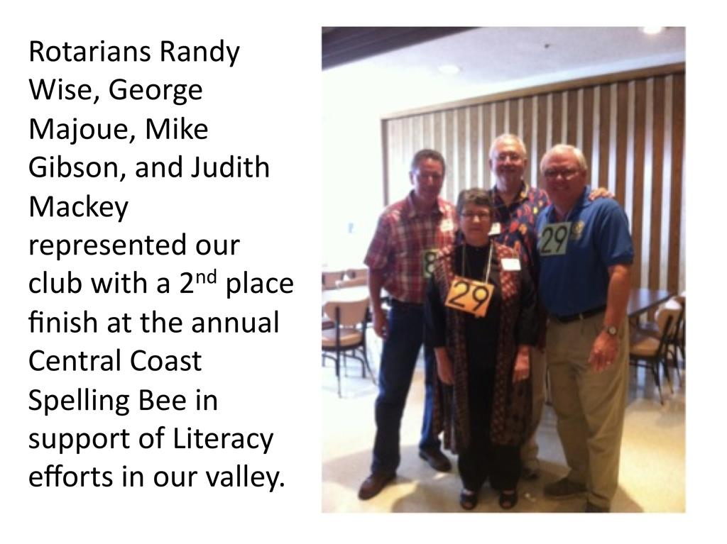 Support For Literacy Rotary Club Of Santa Maria Breakfast