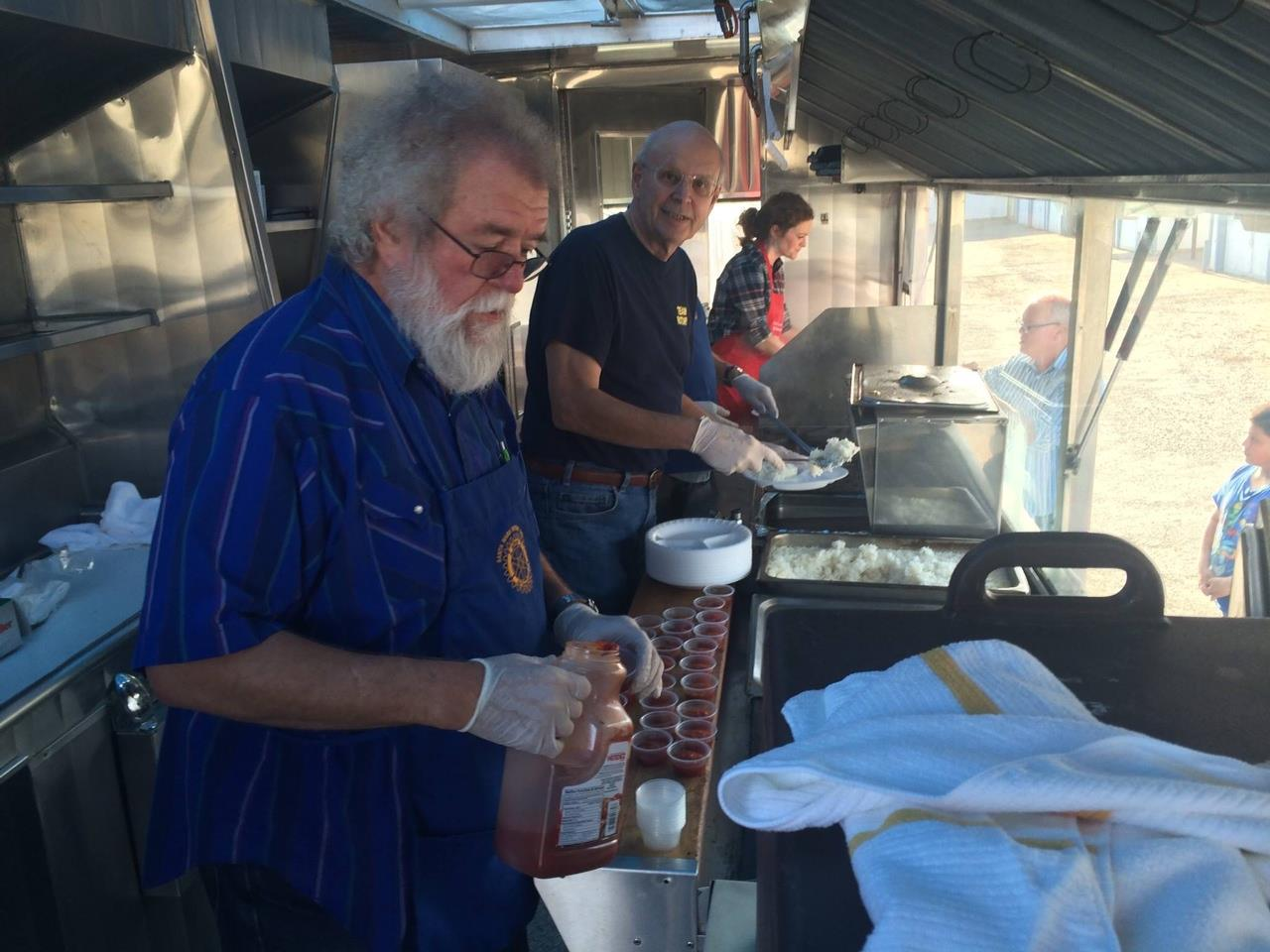 Conners sales group red hat project - The Rotary Club Of Santa Maria South Cooked Up Some Delicious Chicken Verde In The Sos Truck To Serve To Residents Of A Nearby Apartment Complex