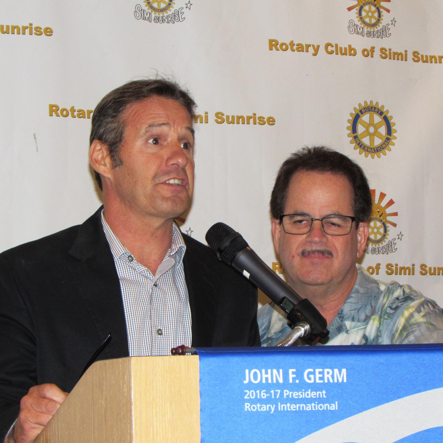 Rotary Club of Simi Sunrise Bulletin - August 18, 2016 (Aug