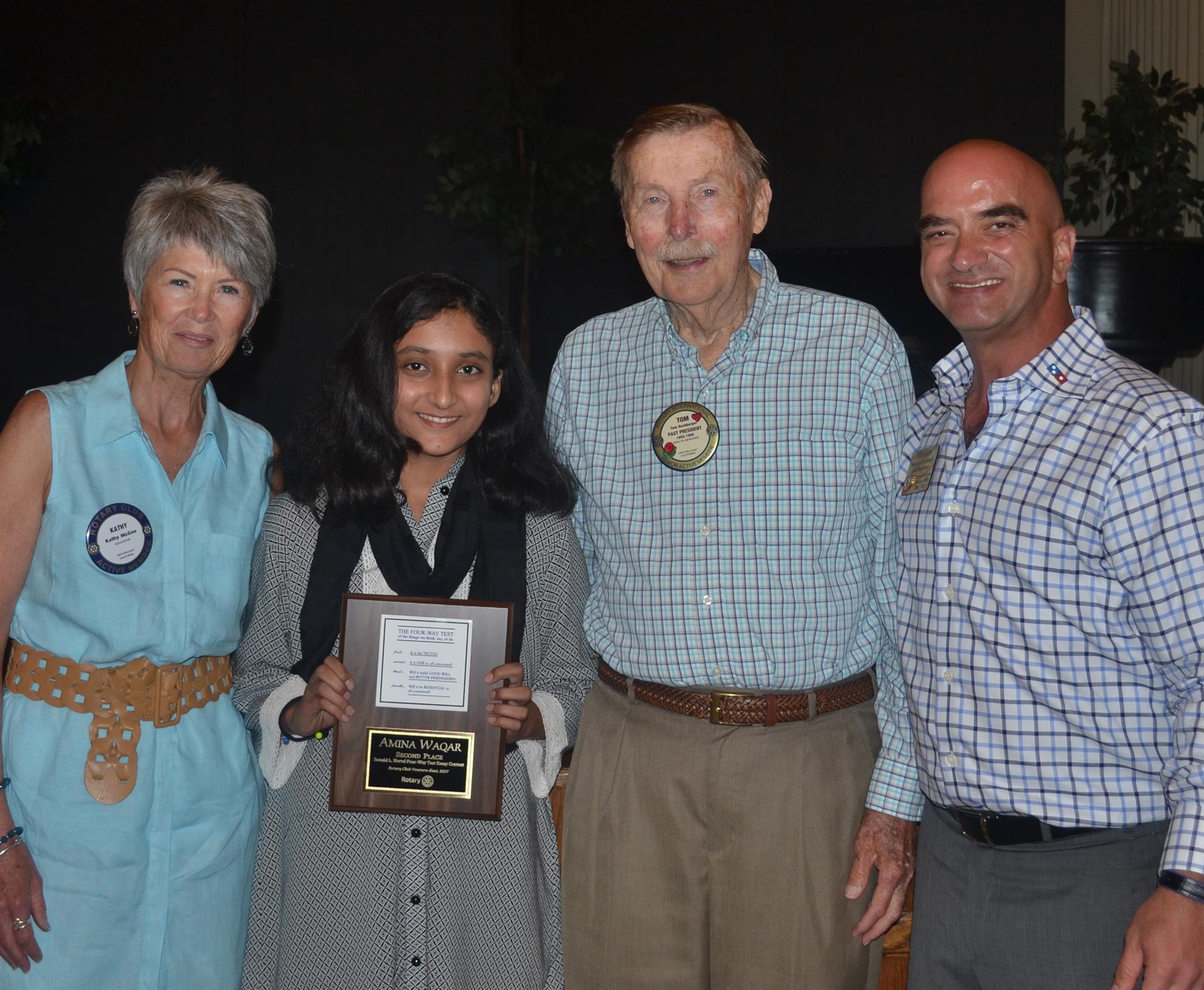 Rotary 4 way essay contest