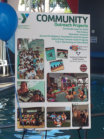 The Rotary Club of Ventura-East was recognized as a major donor to the  Ventura Family YMCA and for our continued support and creation of Operation  Splash!