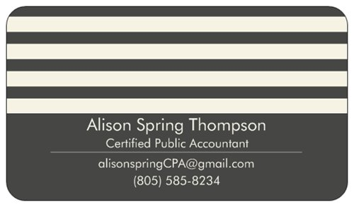 Alison Spring Thompson, CPA