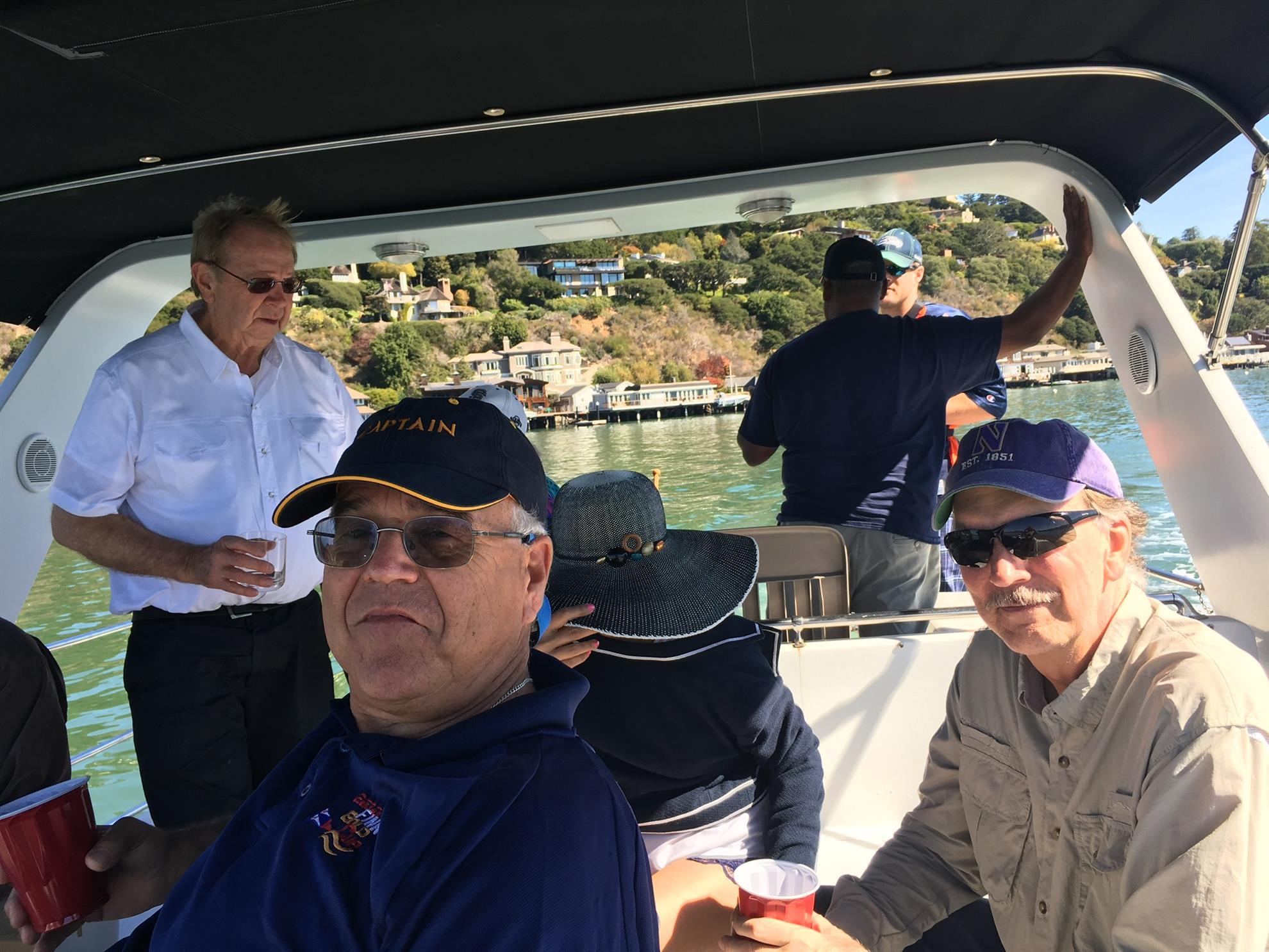 left to right, Jim Ring, Capt Jeff Allen, Hugh Murphy