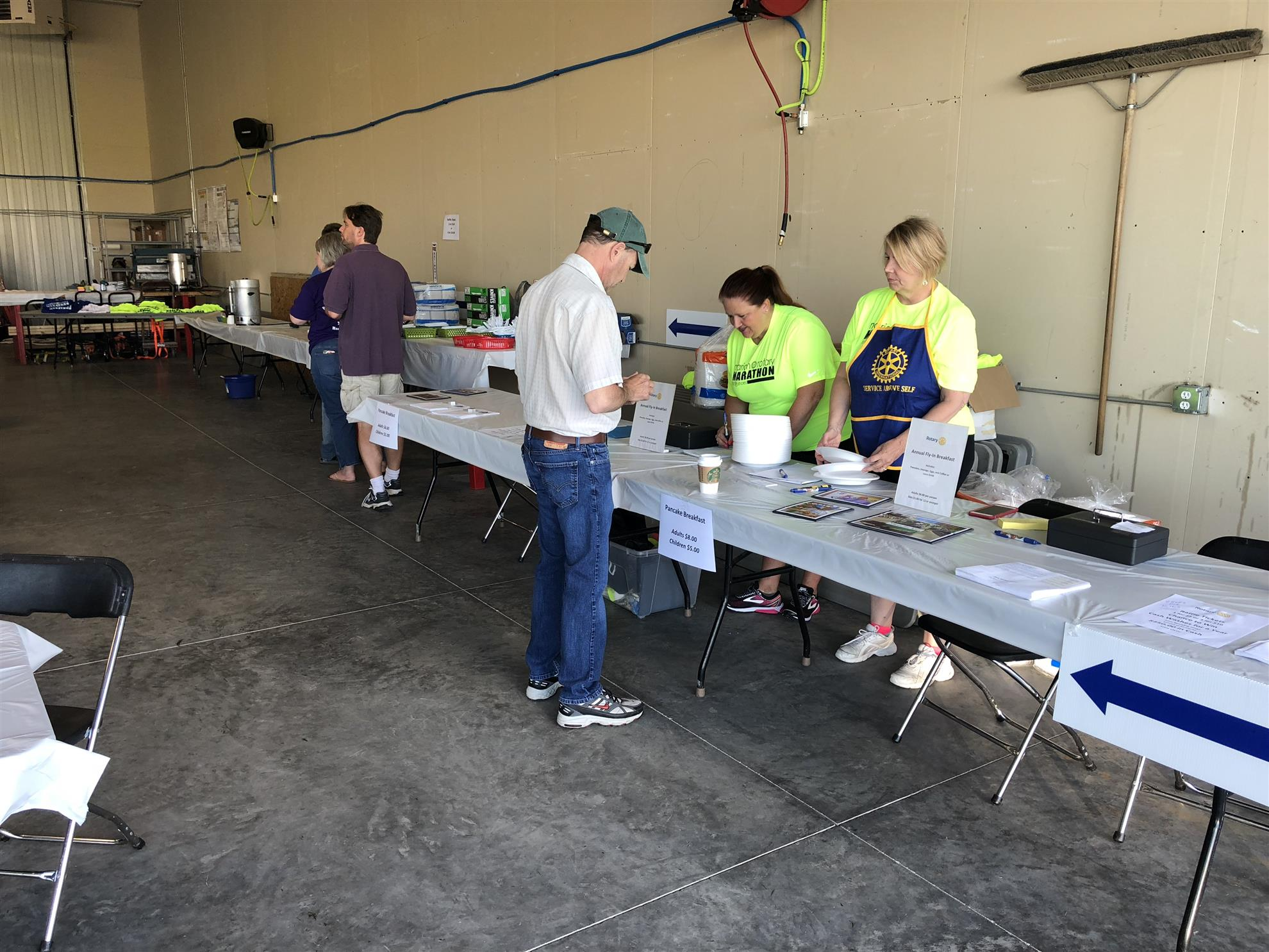 fd171701f5f2 A beautiful day at the Marion Airport brought many aviation enthusiasts out  to enjoy airplanes and pancakes. A steady manageable flow of customers were  ...
