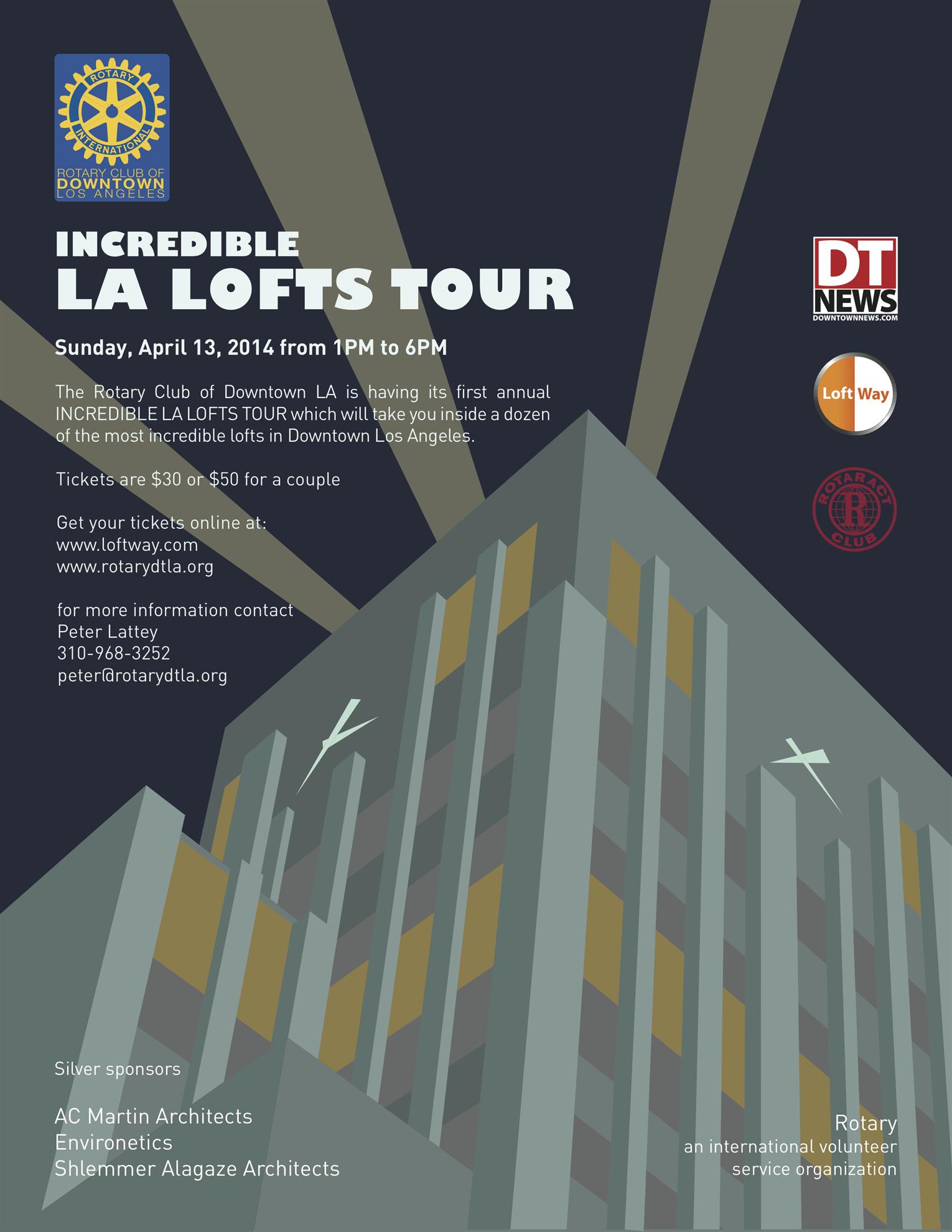 Incredible LA Lofts Tour flyer