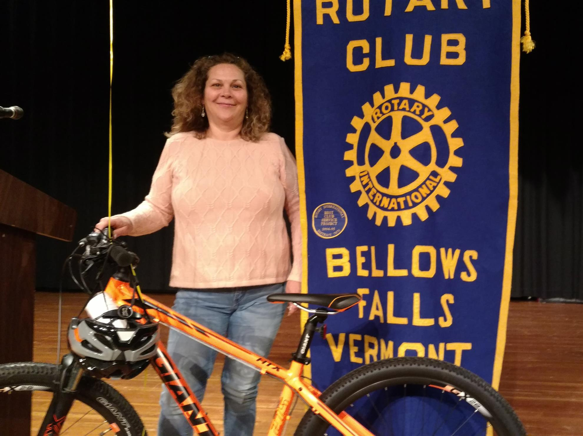 photo of flight 2 grand prize winner with bike