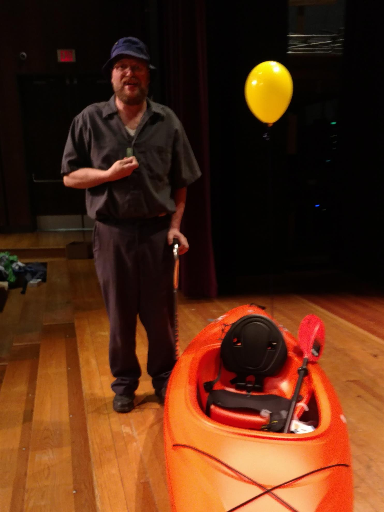photo of flight 3 grand prize winner with kayak