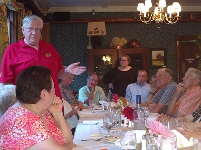 District Governor McMann speaks at Saxtons River Inn